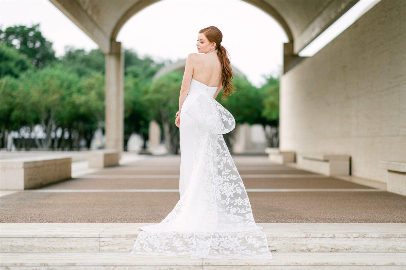 Sareh Nouri Bow Wedding Dress
