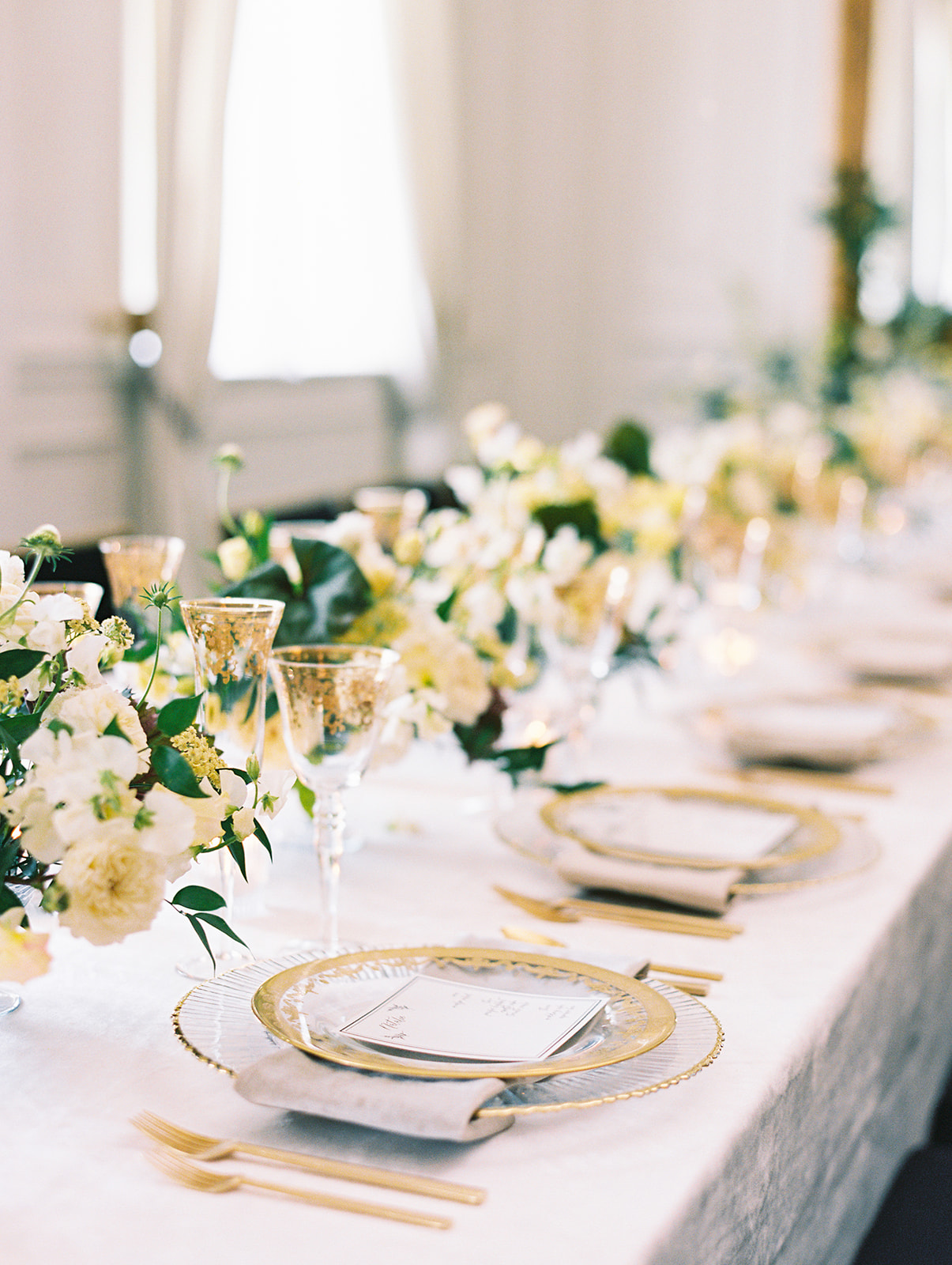Chic wedding table setting at The Mason Dallas
