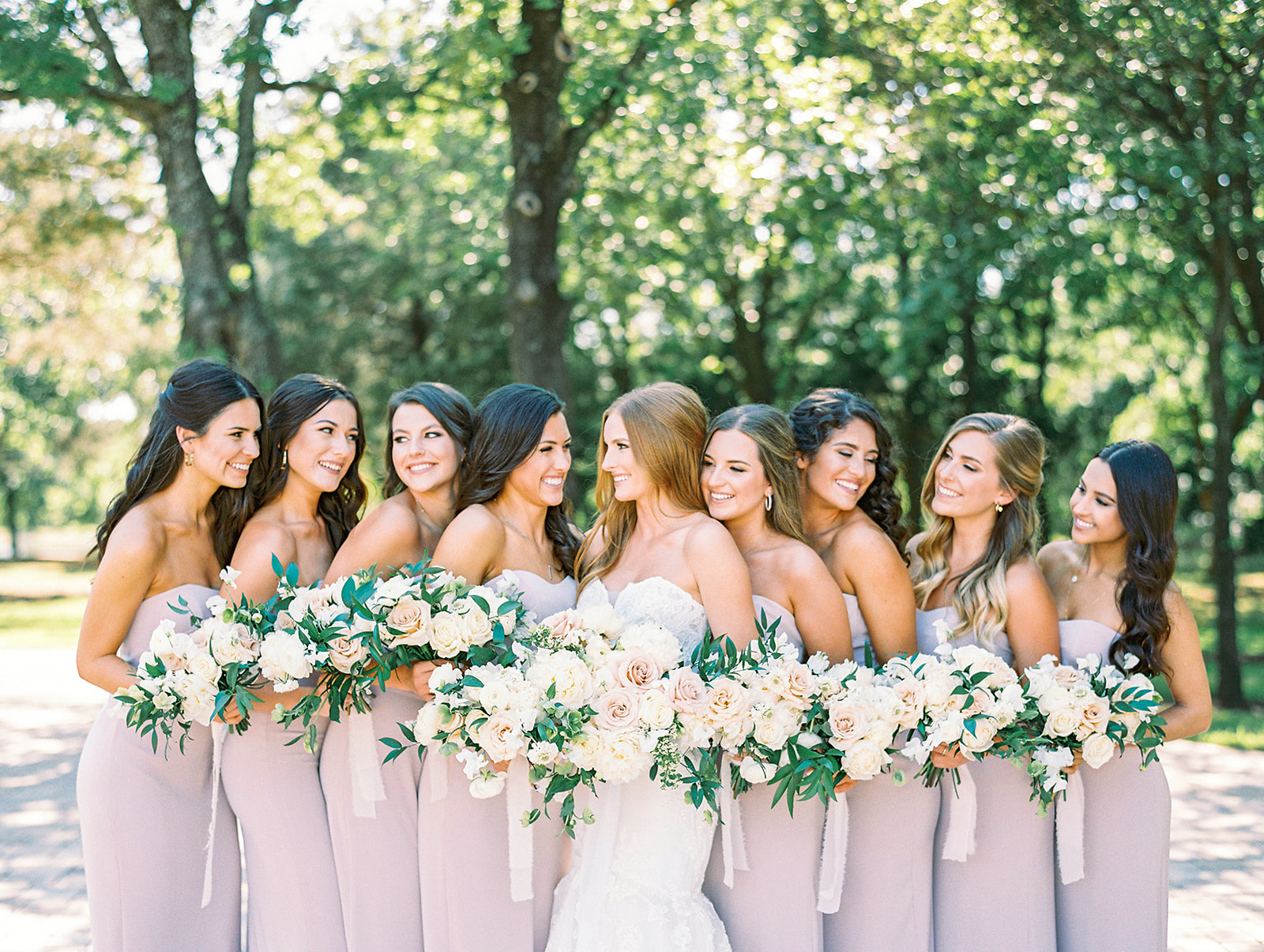 Mauve bridesmaids dresses from Beside the Bride
