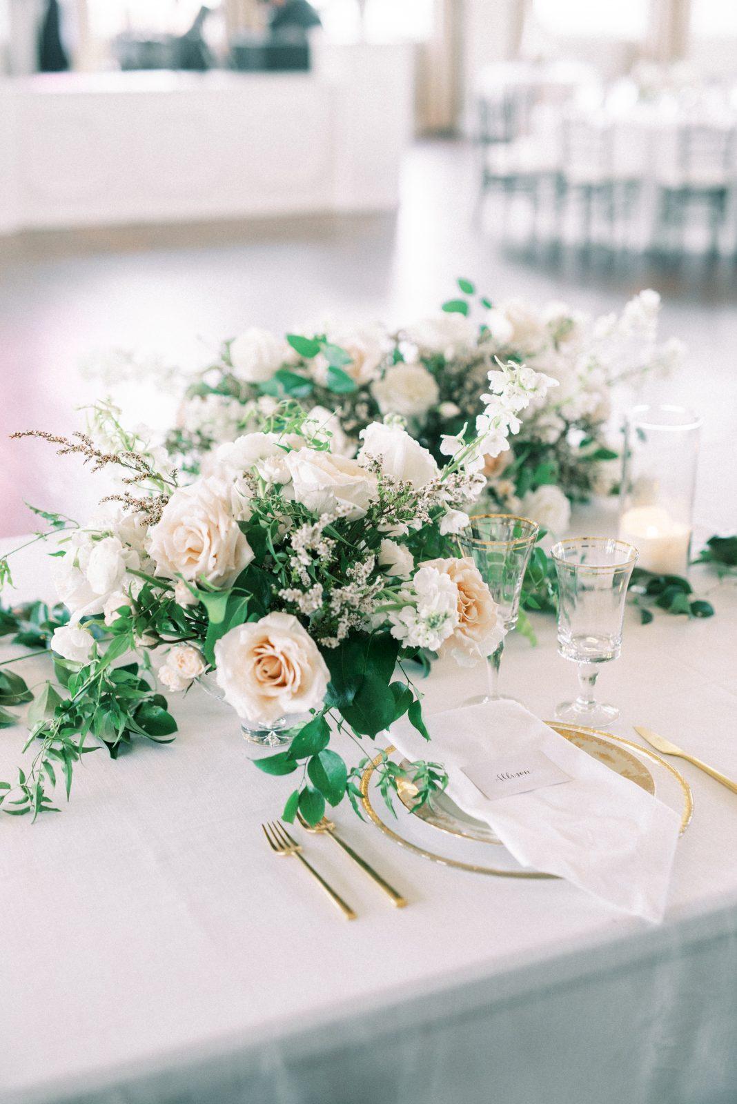 Alba Dahlia Floral wedding centerpieces for Room on Main wedding