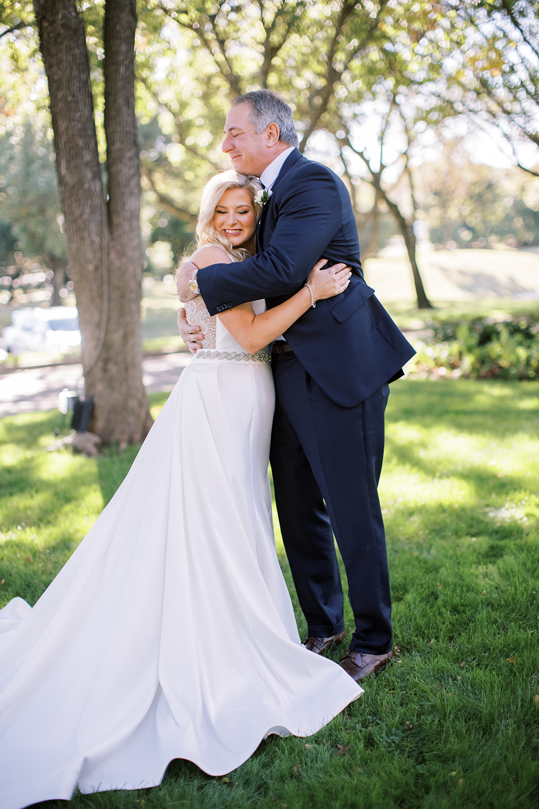 Father daughter first look at Gleneagles Country Club wedding