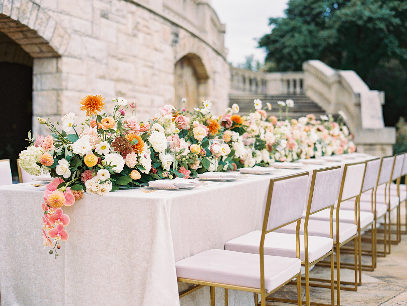 White and gold luxury wedding chairs | Alexa Kay Events