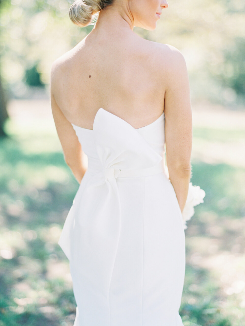 Romona Keveza wedding dress with back bow | Alexa Kay Events
