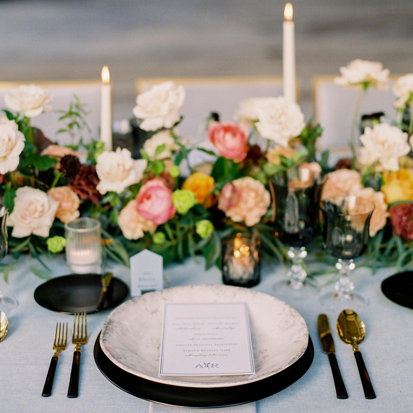 Modern wedding tablescape inspiration