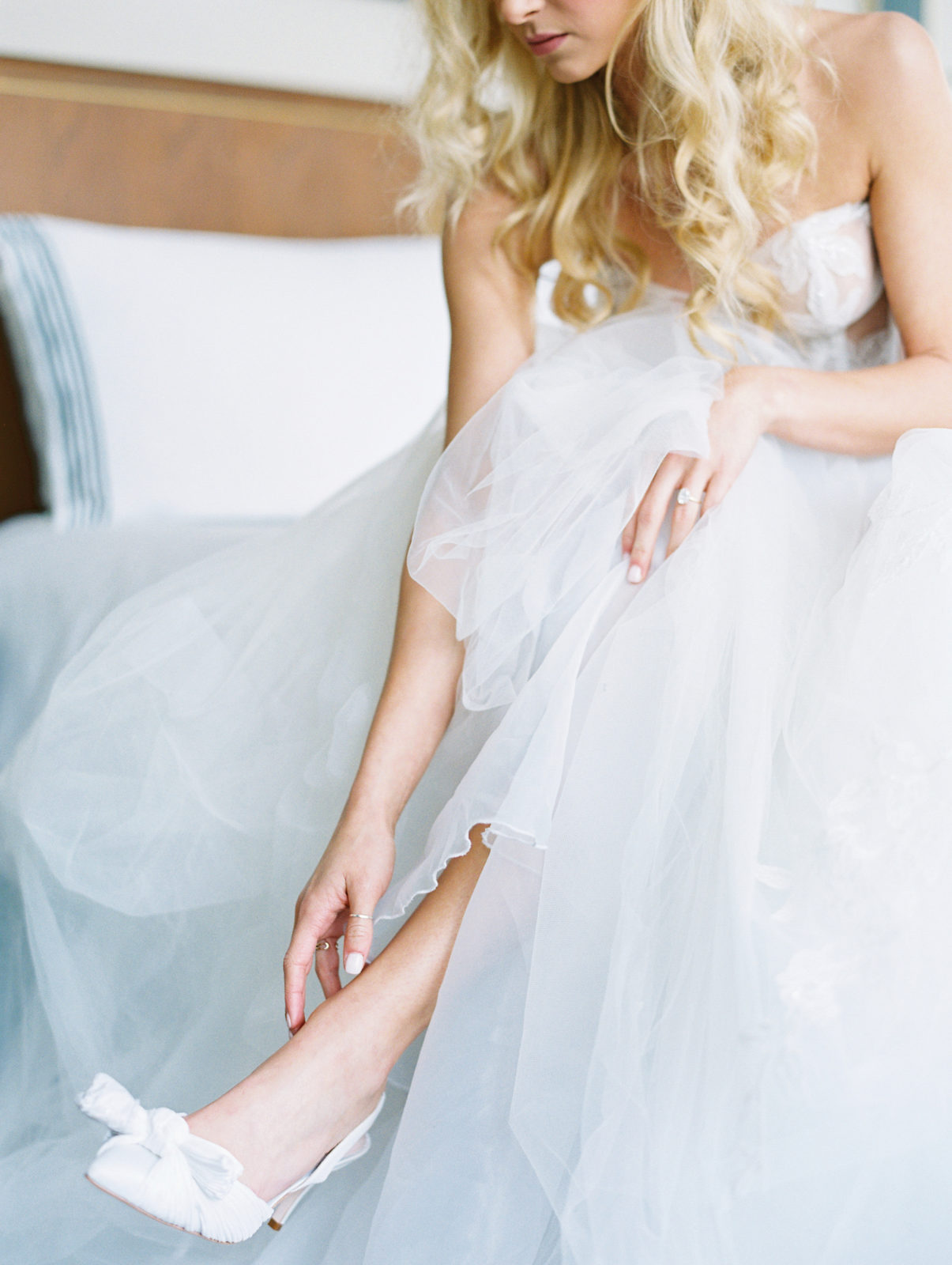 White bow tie wedding shoes from Loeffler Randall