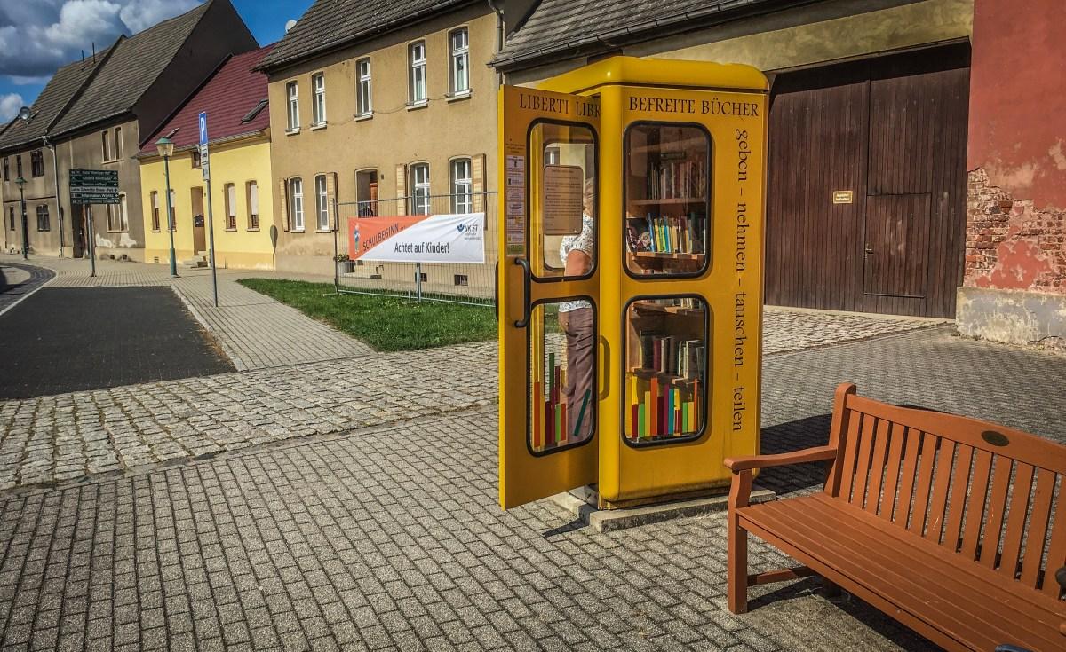 Der Bücherschrank in der Telefonzelle