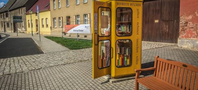 Befreite Bücher gibt es in Wörlitz. Foto: Baumbach