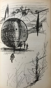 Mit solchen Kugeln reisen die Mejuaner zur Erde - Günther Krupkat - Illustration: Martin Kotsch