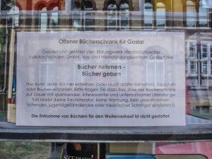 Offener Bücherschrank für Goslar