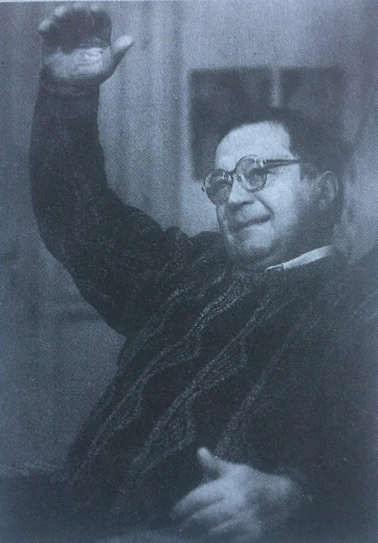 """Werner Bender, Foto: Klaus Morgenstern (Berlin), aus """"Die Science-fiction der DDR - Autoren und Werke"""" von Simon und Spittel"""