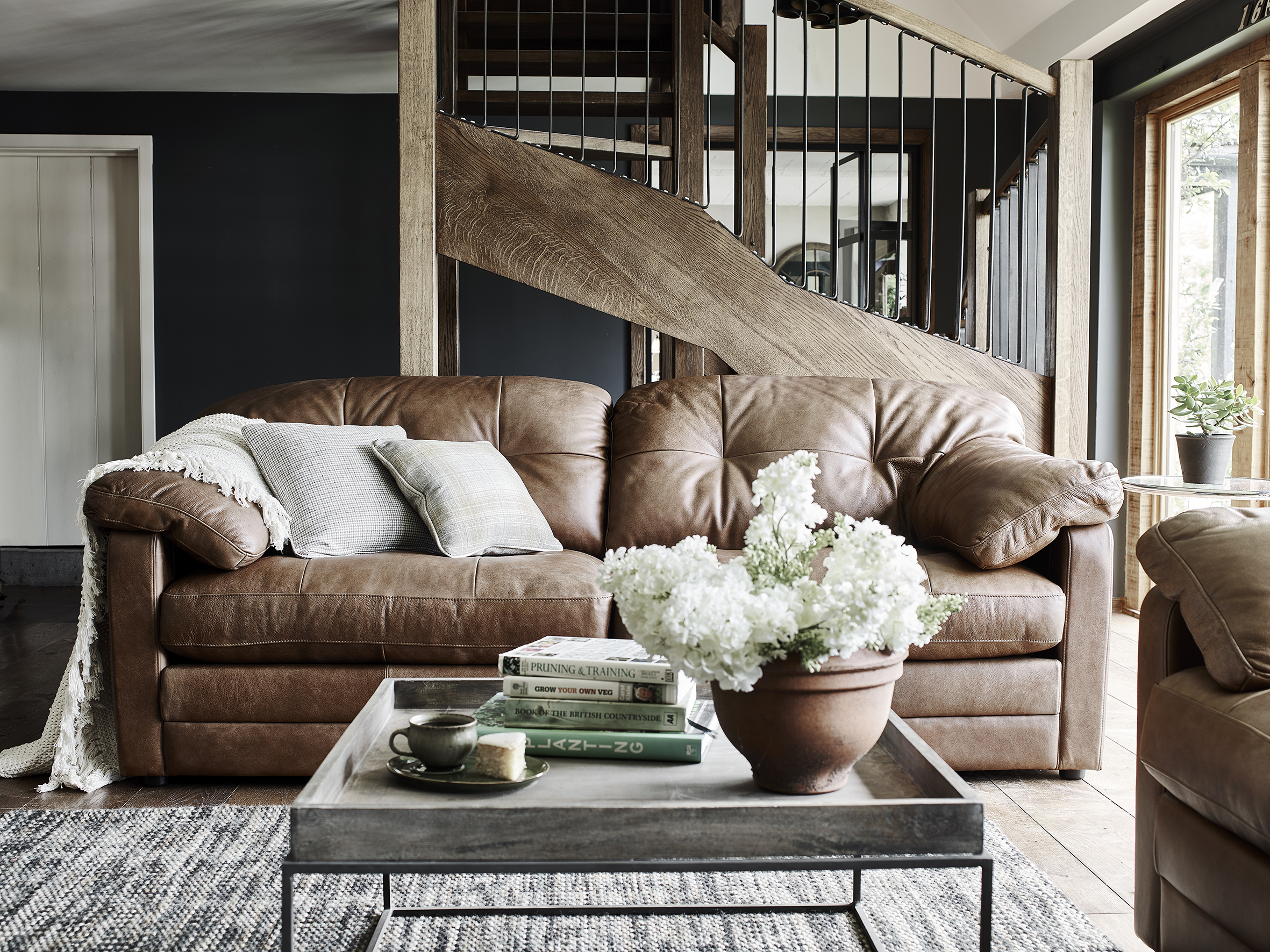 younger sofa james colors combinations 2017 alexander leather grampian furnishers hudson 4 seater