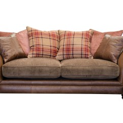 Southern Furniture Hudson Sofa Genuine Italian Leather Curved Shaped Sectional 3 Seater Alexander And James