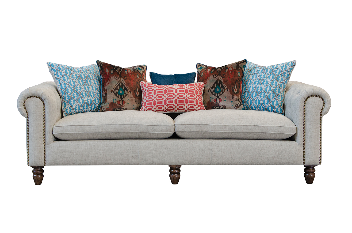 alec leather sofa collection pottery barn seabury review audrey maxi alexander and james