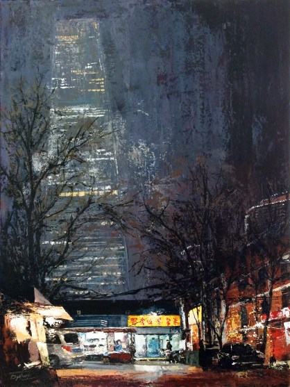 View on China World Trade Center Tower 3 from Guang Hua Xi Li