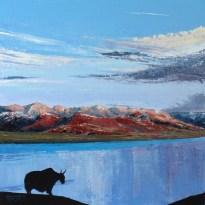 «The Lake. Inner Tibet series», acrylic on canvas, palette knife, 60 x 60 cm, 北京 2016