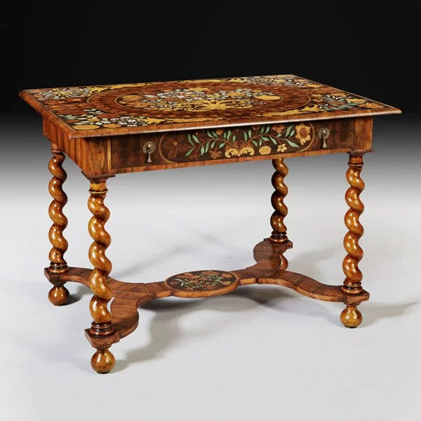 Charles II Olive Oyster Floral Marquetry Table