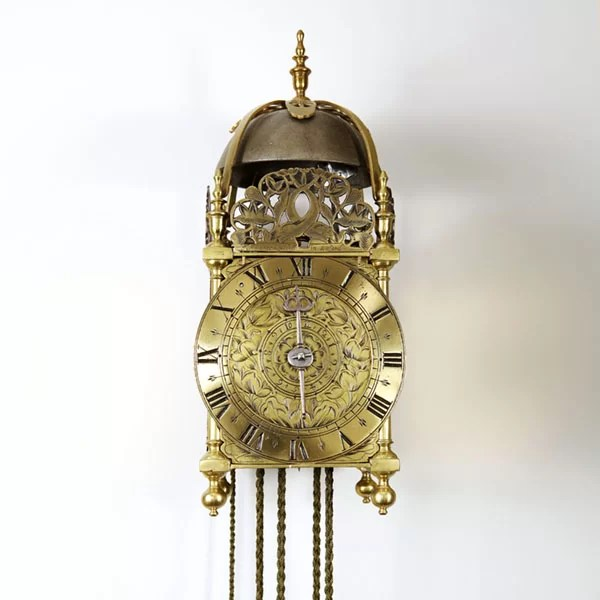 17th Century Lantern Alarm Clock by Johannes Quelch, Oxford