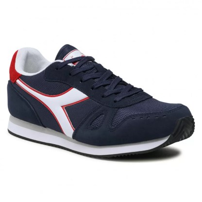 scarpe da uomo diadora simple run blu corsair bianco sneakers estive comode sportive casual