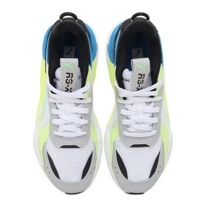 scarpe uomo puma rs-x hard drive 369818 11 white fizzy yellow gray violet bianco grigio verde blu alexander john shoes alexanderjohn.it