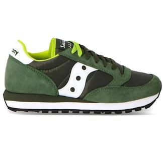 scarpe sneakers uomo saucony jazz original grigio blu giallo nuova collezione 2021 estive estate 2044-275 verde scuro