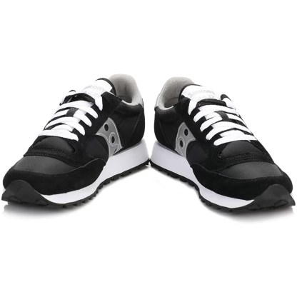 scarpe sneakers uomo saucony jazz original grigio blu giallo nuova collezione 2021 estive estate 2044-1 nero argento