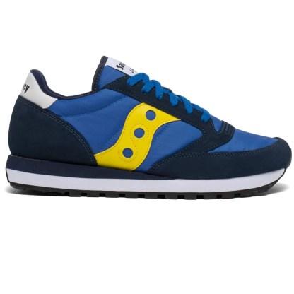 scarpe da uomo saucony jazz original blue yellow white bleu jaune bianco blu giallo s2044-601