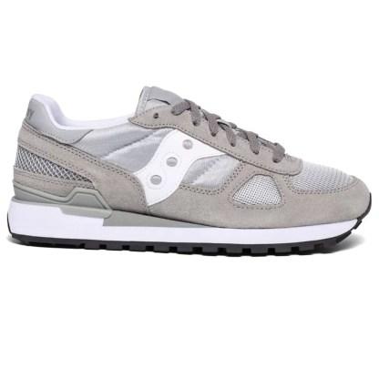 SAUCONY Shadow uomo 41 42 43 44 Jazz original Grigio bianco sneakers sportive