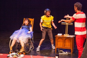 "Caitlin Morris, Jon Fusco, and Wil Petre in ""Peggy Pregnant Skates"""