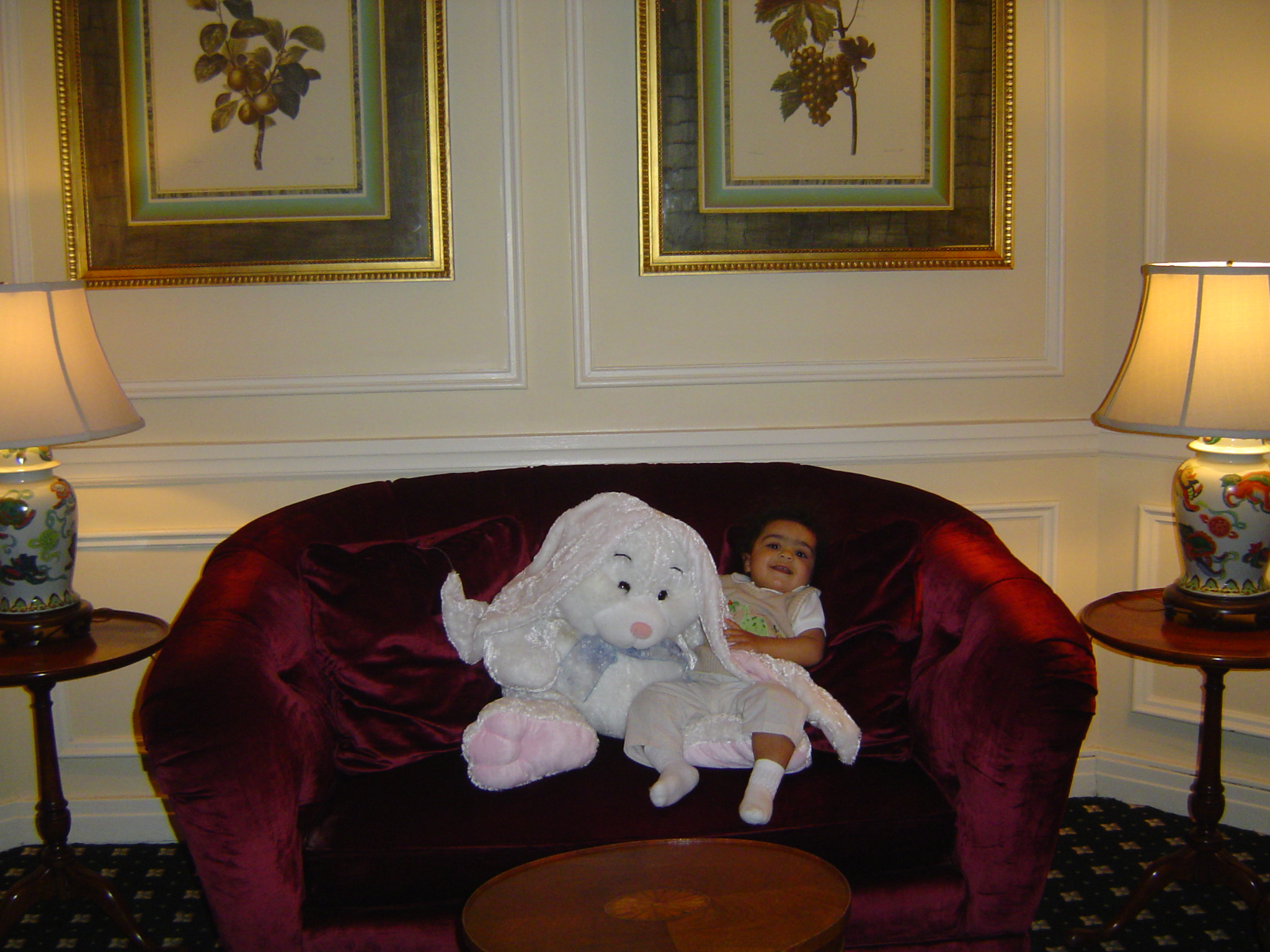 Alexander hanging with the Easter bunny at the Trenton Country Club (2008)