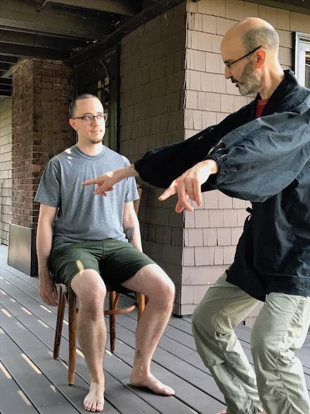 Explaining torso-leg separation to a student
