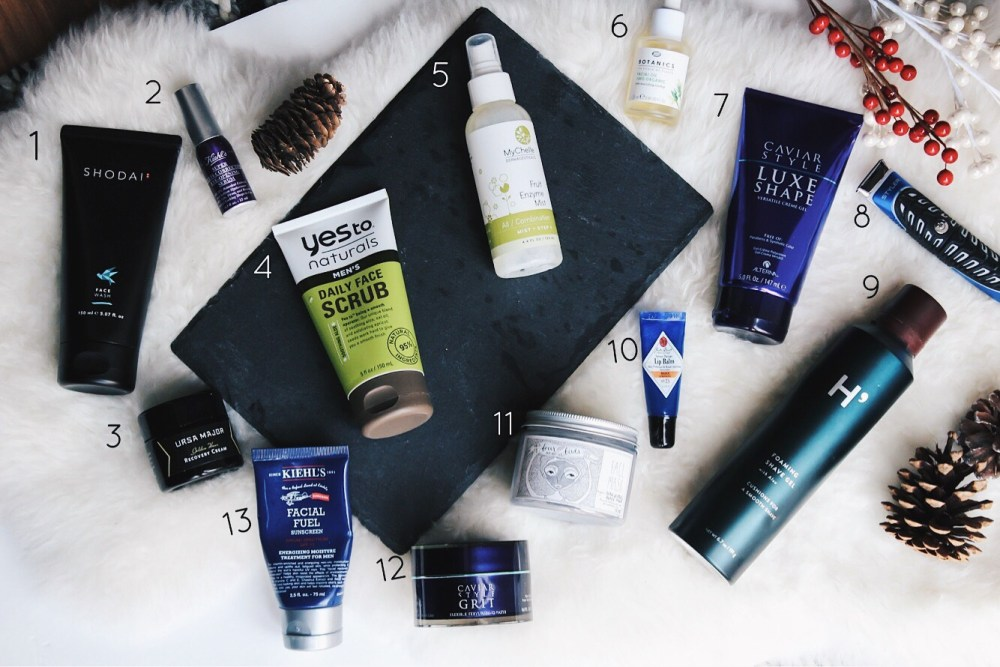 flatlay of grooming essentials