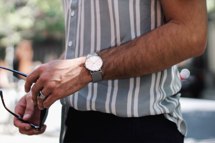 spring stripes with watch