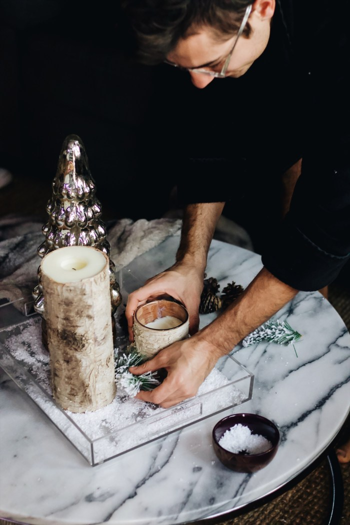 DIY holiday coffee table