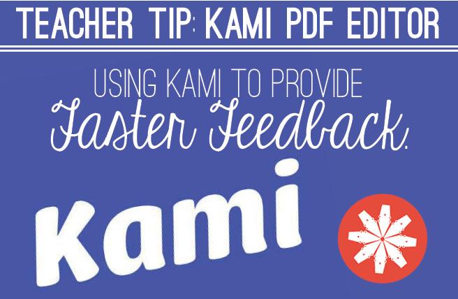 Teacher Tip -Kami PDF Editor | Alexandra Michelle