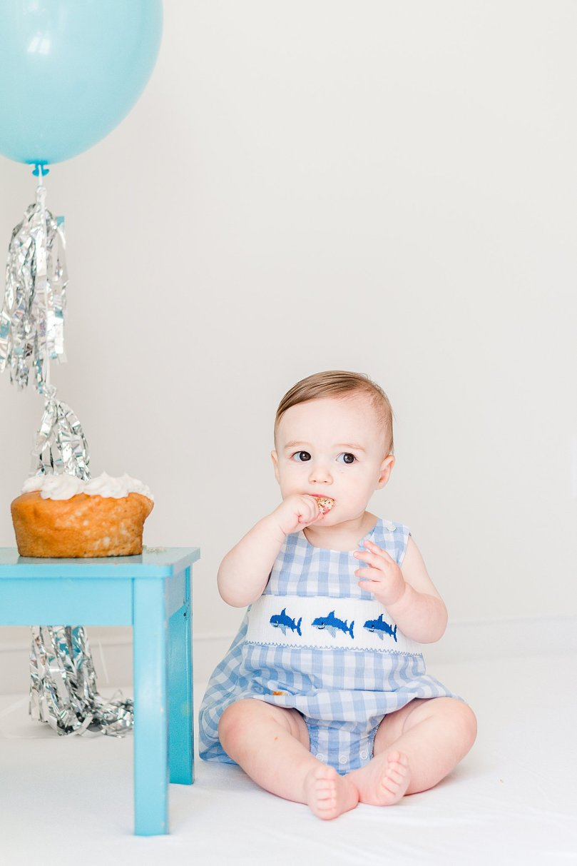 Alexandra Michelle Photography - 1 Year Cake Smash Portraits - Virginia - Summer 2019 - Tenney-41