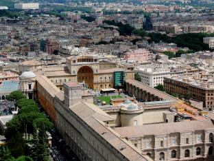 Vatican Museums from above