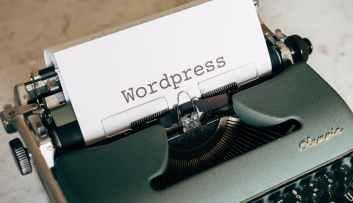 close up shot of a typewriter