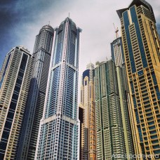 Towers by the dubai marina
