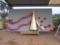 """No estaleiro para montagem da """"Rainha"""", 2012"""
