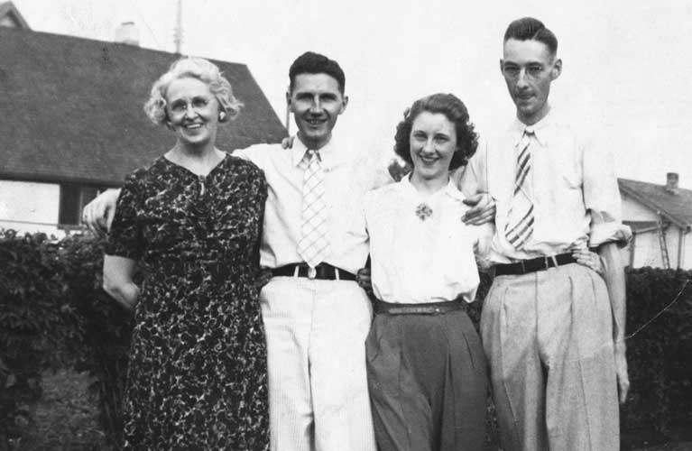 Catherine Golden, Stanley, Shirley and Thomas Golden (Mother and Siblings together)