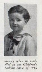 Stanley Golden, modeling a sailor suit for the T. Eaton Company Catalog, 1916. Source: Contacts: Volume 10, no. 1 - April - Golden Family Treasure | Alex Inspired