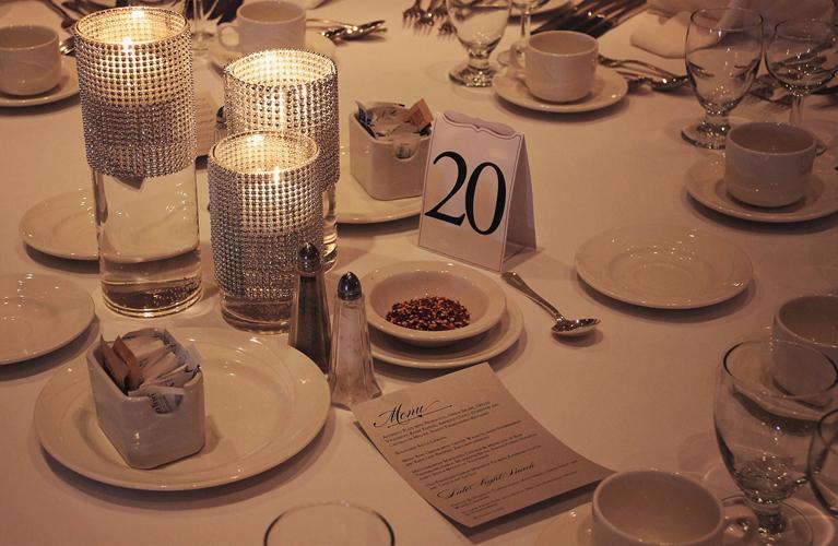 Menu on Table at wedding reception, Wedding Stationery | Alex Inspired