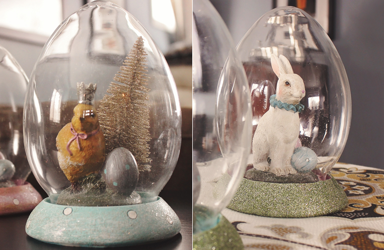 Mini Easter makeover - the before and the after of the Easter Cloches | alex inspired