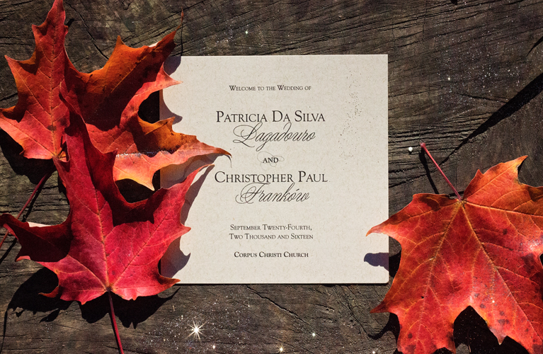 Rustic Chic Autumn Wedding Stationery - Menus and Programs | Alex Inspired