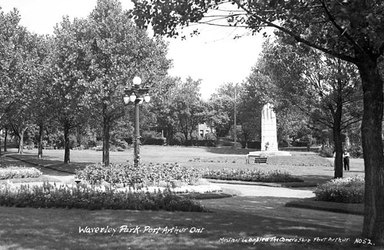 The Cenotaph at Port Arthur | Picture Courtesy of the Thunder Bay Museum | Alex Inspired