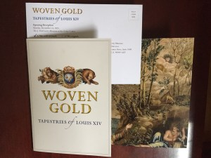 Image of the invitation to Woven Gold, the exhibit at the J. Paul Getty Museum