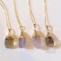 AKA Faceted Quartz Necklace
