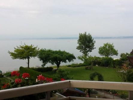 Morgens. Blick vom Balkon.