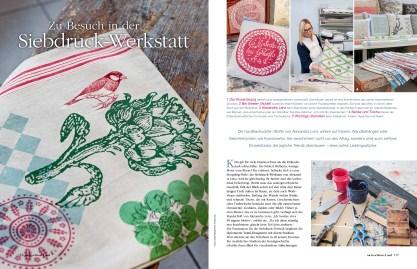 """In der Zeitschrift """"Mein schönes Land"""" 6/20 ist ein Artikel über mich, mein Atelier und meine Produkte erschienen. Ich freue mich!"""
