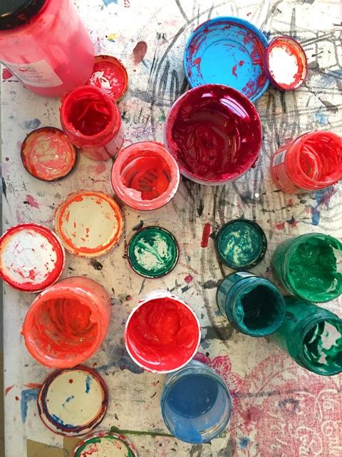 Selbst angemischte Siebdruckfarben auf Wasserbasis